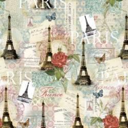 David Textiles Paris Spring multicolor creme