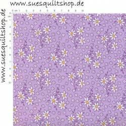 Henry Glass 1930s Daisies Lilac White Blümchen violett weiss