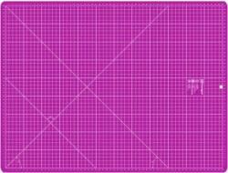 PRYM Schneidematte pink mit weissem Raster 45 x 60 cm (und 18x24 inch)