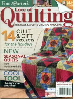 Fons And Porters Love of Quilting No. 108 November/December 2013