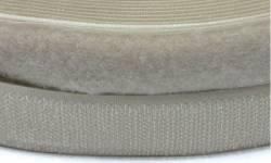 Klettband, 25 mm breit, ecru, zum Aufnähen