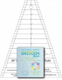 Double Wide Dresden Plate 36° Wedge Ruler 36 Grad