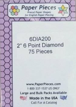 Papierschablonen Rauten 60°,  2 inch, ca. 75 stk./Packung