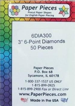 Papierschablonen Rauten 60°,  3 inch; ca. 50 stk./Packung