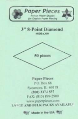 Papierschablonen Rauten 45°, 3 inch, ca. 50 stk./Packung