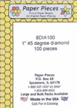 Papierschablonen Rauten 45°, 1 inch, ca. 75 stk./Packung