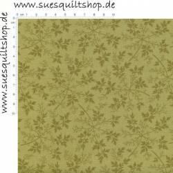 Benartex Modern Antiques Olive Leaves 1800er Repro Blätter olivgrün