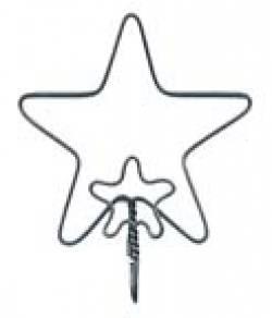 Drahtänger Stern 2 inch, Preis pro Paar!