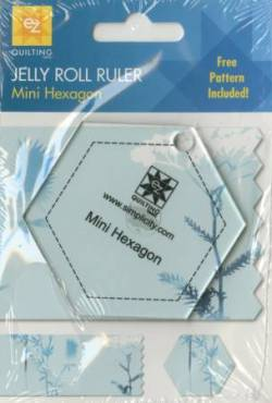 EZ Quilting Mini Hexagon Jelly Roll Ruler