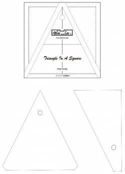 BlocLoc Triangle in a Square 3x3 inch
