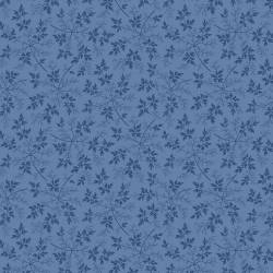 Benartex Modern Antiques Blue Leaves 1800er Repro Blätter blau