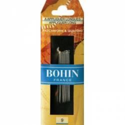 Bohin Applikationsnadeln extra lang No.  9, Trapunto/Boutis