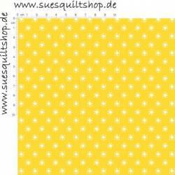 Stof Memory Fun, Sonnen weiss auf gelb