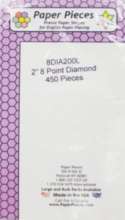 Papierschablonen Rauten 45°, 2 inch, Großpackung 450 stk.