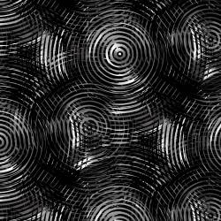 Henry Glass Black Tonal Grey Ombre Colored Circle Kreise schwarz-grau-weiss Rückseitenstoff