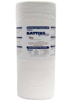 Warm & Natural 100% Bleached Cotton Batting, Baumwollvlies genadelt ca. 157 cm breit