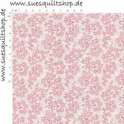 Choice Fabrics Classic Novelties Blümchen rosa weiss