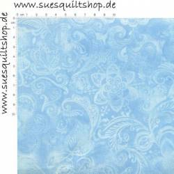 Santee Crown Floral hellblau >>> nur Fat Quarter <<<