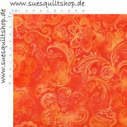 Santee Crown Floral orange >>> Mindestbestellmenge 1 Meter <<<