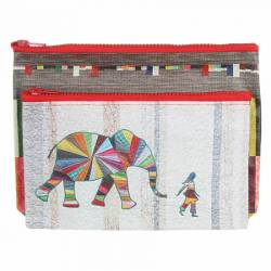Täschchen Elephant and I Eco Pouch Set