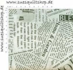 Windham Spackle News Paper Clipping, Zeitungsausschnitte Rückseitenstoff überbreit