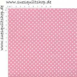 Santee Pink Dots Punkte weiss auf rosa >>> Mindestbestellmenge 1 Meter <<<