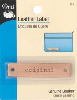 Dritz Leather Label, Leder-Aufnäher  *original*