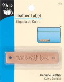 Dritz Leather Label, Leder-Aufnäher  *made with love*