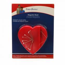 Magnetisches Nadelkissen in Herzform, rot