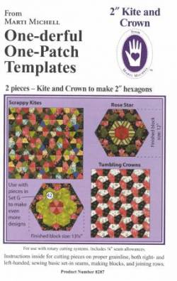 One-derful One Patch 2 inch Kite and Crown Template