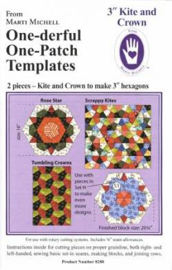 One-derful One Patch 3 inch Kite and Crown Template