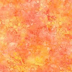Timeless Treasures Tonga Batik Papaya orange