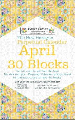 The New Hexagon Perpetual Calendar Paper Piece Pack Schablonen          April