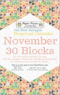 The New Hexagon Perpetual Calendar Paper Piece Pack Schablonen    November