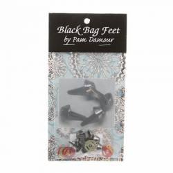 Taschen-Füße ca. 12 mm black nickel