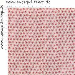 Stof Spring Meadow kleine Blümchen rosa auf hellrosa