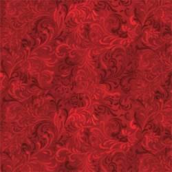 Wilmington Scroll Red, Schnörkel rot  Rückseitenstoff überbreit