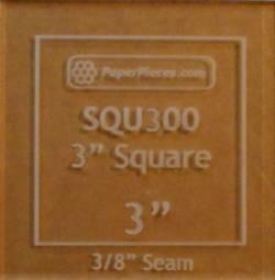 Acrylschablone Quadrat 3 inch mit 3/8 inch Nahtzugabe