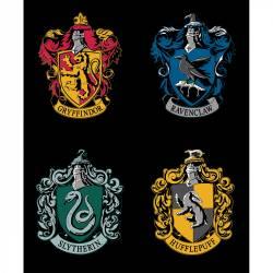 Camelot House Crest Hogwarts Harry Potter Panel mit Schulwappen, Rapport 90 cm