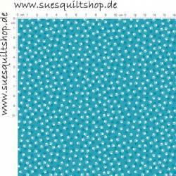 Makower Kitty Katzenpfoten blau weiss