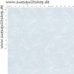 Muslin bedruckt weiss auf weiss, Schlitten >>> Mindestbestellmenge Reststück 0,95 m