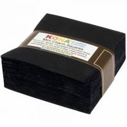 Kona Cotton 2-1/2 inch Mini Square ALL BLACK, 84 stk