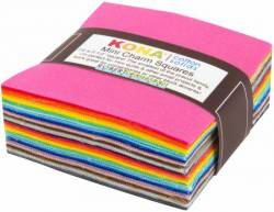 Kona Cotton 2-1/2 inch Mini Square multicolor, 84 stk
