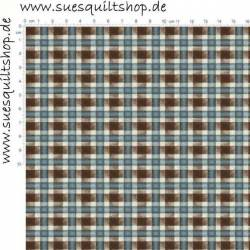 Maywood Blue Painterly Plaid >>> Mindestbestellmenge 1 Meter <<<