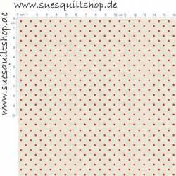 Makower Scandi Christmas Sternchen rot auf creme/grau