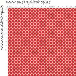 Makower Scandi Christmas Sterne creme auf rot