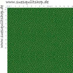 Makower Silent Night Metallic Green Spot Punkte gold auf grün >>> nur noch Fat Quarter <<