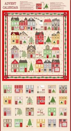 Makower Silent Night Adventskalender Panel, Rapport 60 cm