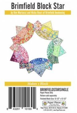 Papierschablonen Brimfield STAR Block für EINEN Block