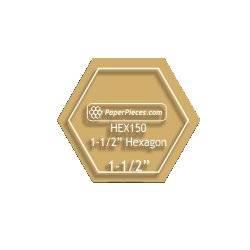 Acrylschablone Hexagon 1-1/2 inch mit 3/8 inch Nahtzugabe
